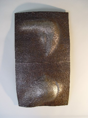 """Barely"", 21"" wide X 38"" tall, ""Artifact Steel"", 2007"
